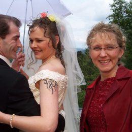 Das Harz-Brautpaar 2005 auf dem Maltermeister Turm Goslar