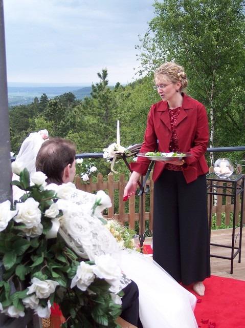 100 4406 - Astrid und Willi auf der Terrasse des Maltermeister Turm Goslar
