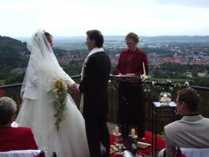 IMGP1339 427x320 - Astrid und Willi auf der Terrasse des Maltermeister Turm Goslar