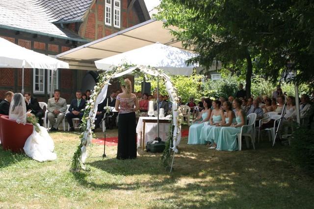 IMG 8462 - Marina & Frank im Garten des St. Annen Hauses Goslar
