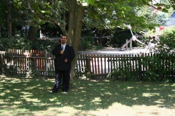 fuhr 076 609x406 - Marina & Frank im Garten des St. Annen Hauses Goslar